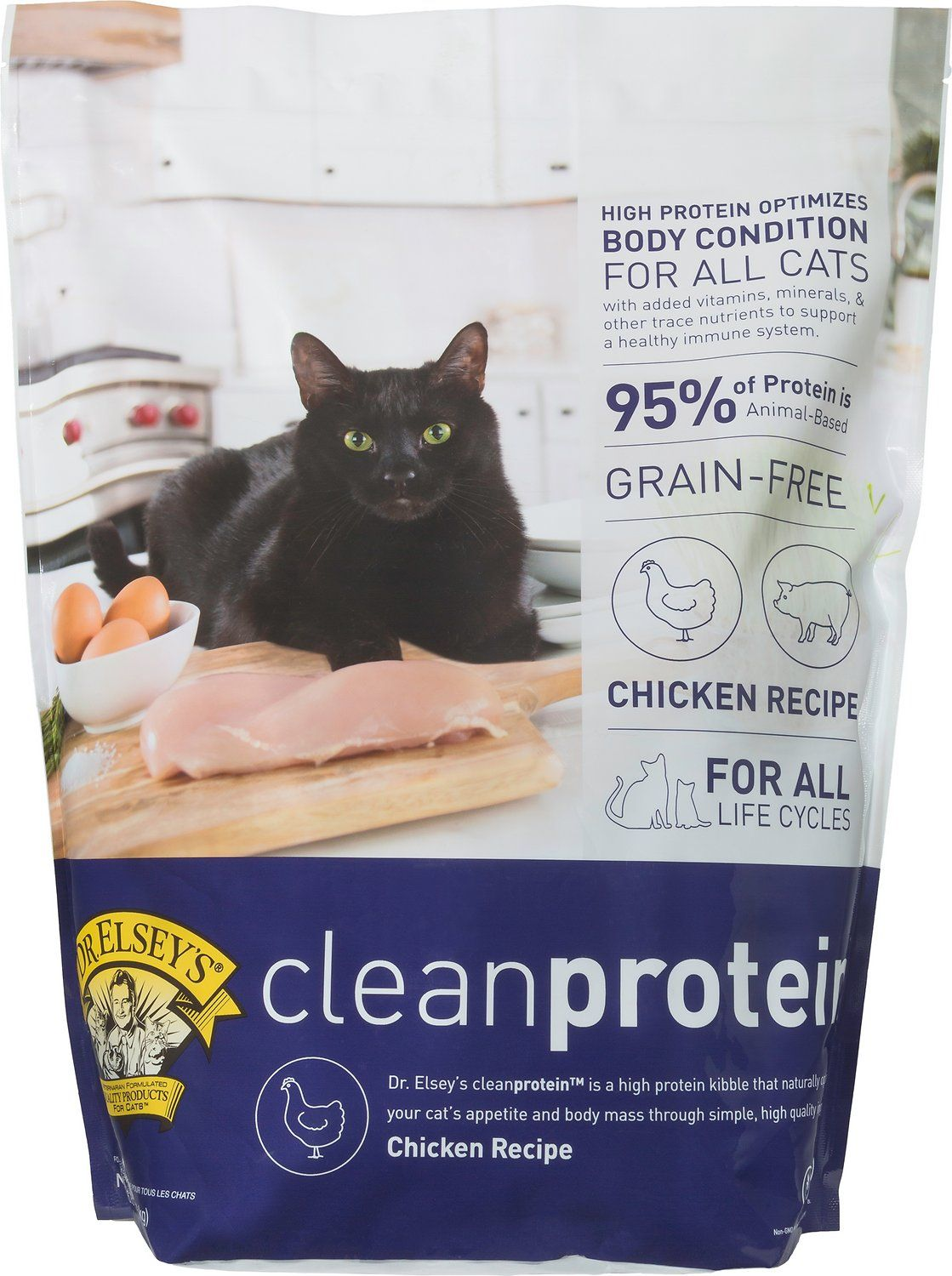 The Proof Is In The Protein With Dr Elsey S Cleanprotein Chicken Formula Grain Free Dry Cat Food Inspired By The Protein With Images Dry Cat Food Cat Food Best Cat Food