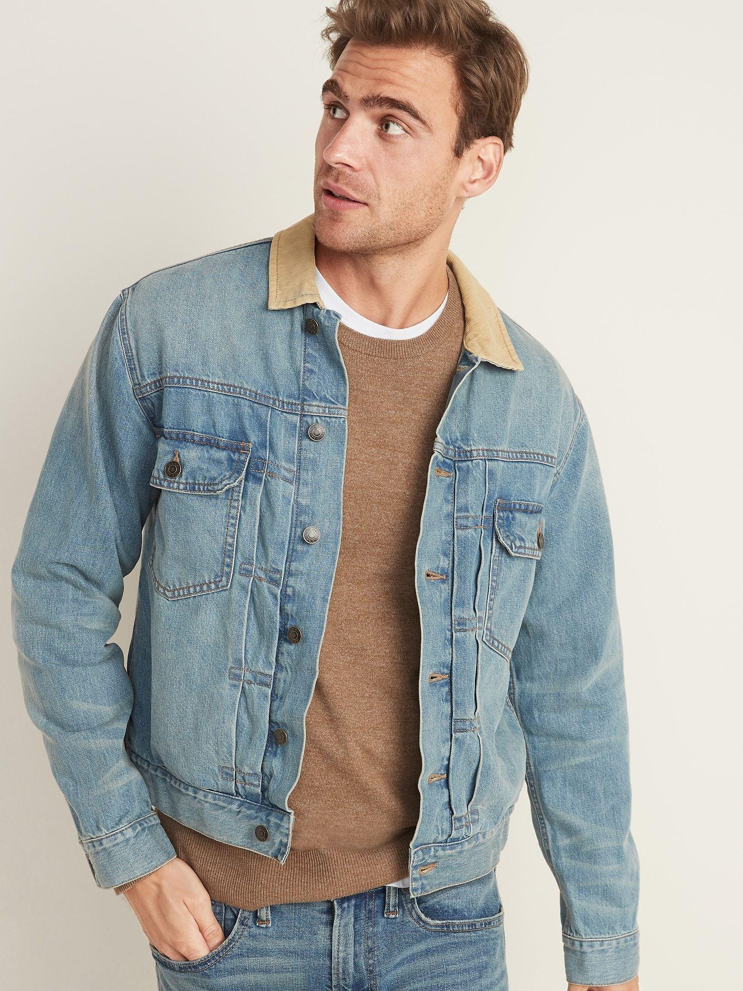 Corduroy Collar Jean Jacket For Men Old Navy Mens Jeans Guide Jeans Outfit Men Mens Fashion Jeans [ 2000 x 1500 Pixel ]