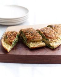 Watercress-Fontina Souffleed Omelet