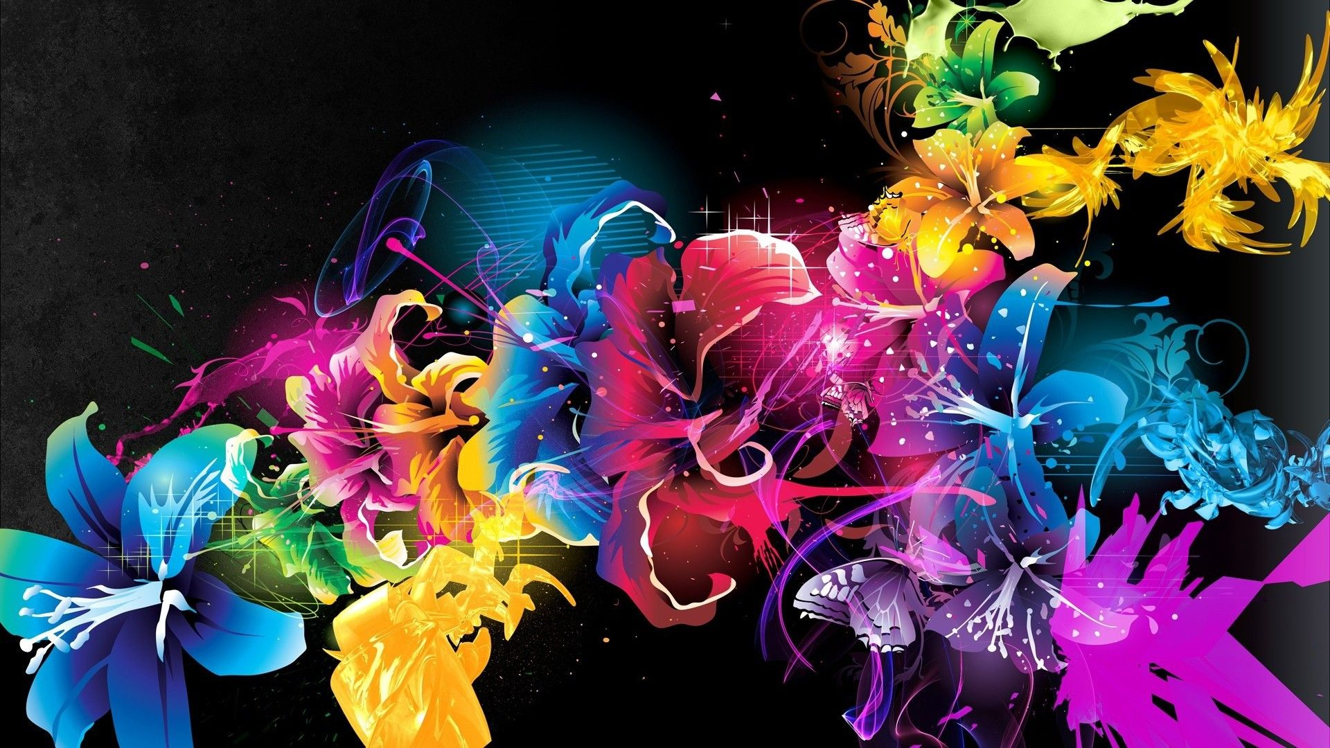 Hd wallpaper quality - Flower Vector Wallpaper Colorful Image High Quality Pc Dekstop Hd Desktop Backgrounds