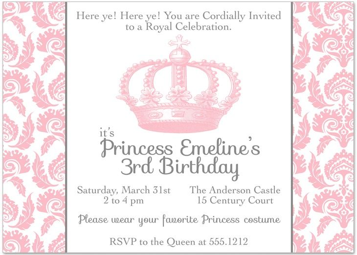 Stunning Princess Crown Invitation Template 5 | esther ladies ...