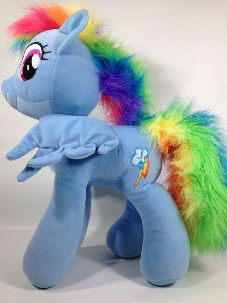 Giant 20 Inch Rainbow Dash My Little Pony Jumbo Plush Blue Pegasus