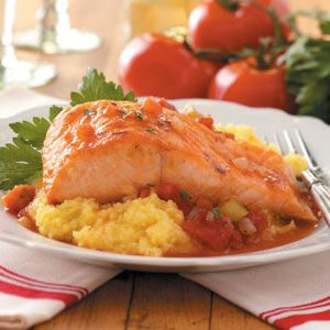 Taste of Home Menu$aver Newsletter - August 2, 2012. Save time and money on these delicious main dishes, like this Salmon with Polenta recipe, and use up an over-abundance of zucchini in the bonus dessert. Sign up for this FREE weekly newsletter at www.tasteofhome.com/Sign-Up-For-Free-Newsletters