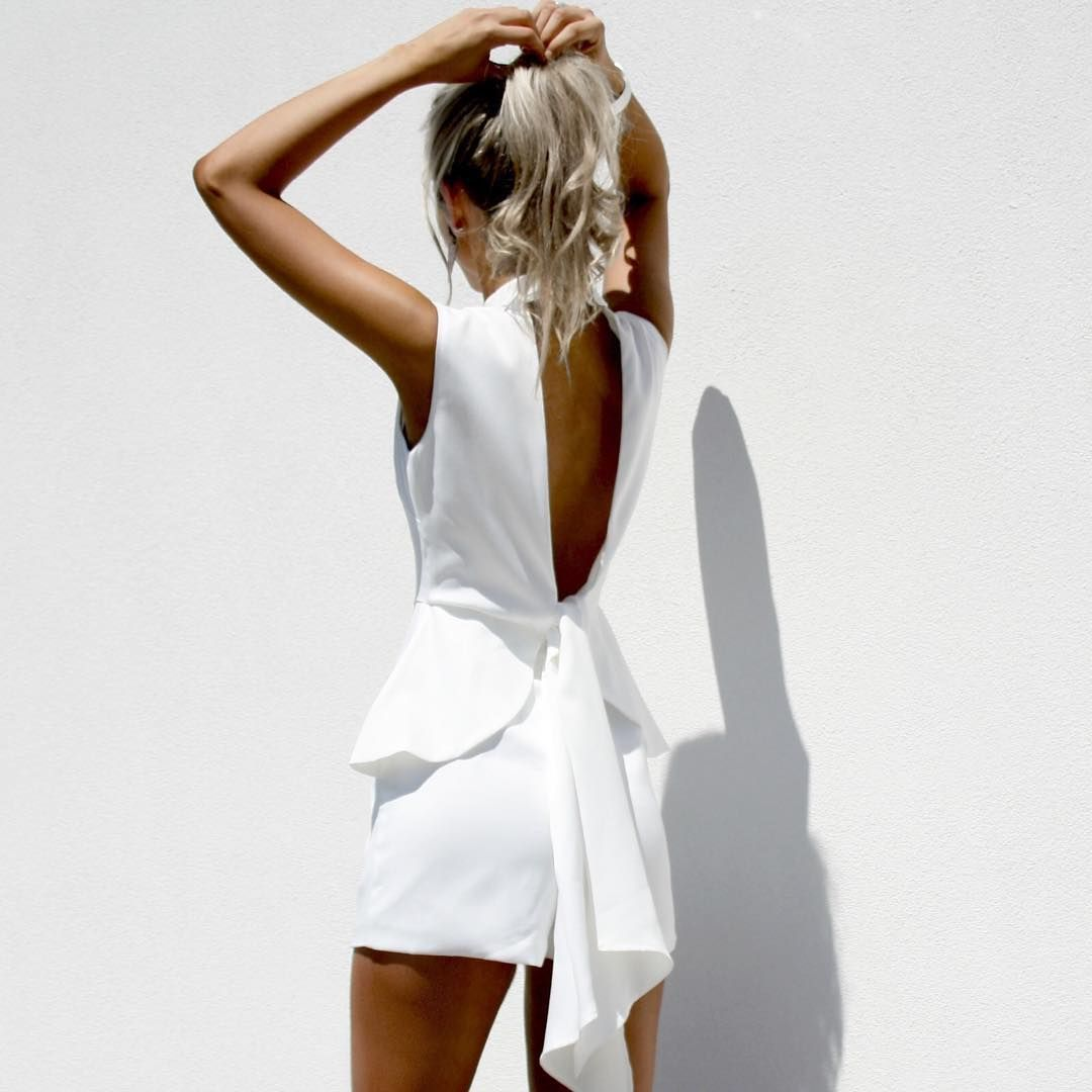 8e4acd6df23 This back!!! Obsessed with the Parisian Playsuit available now at ...