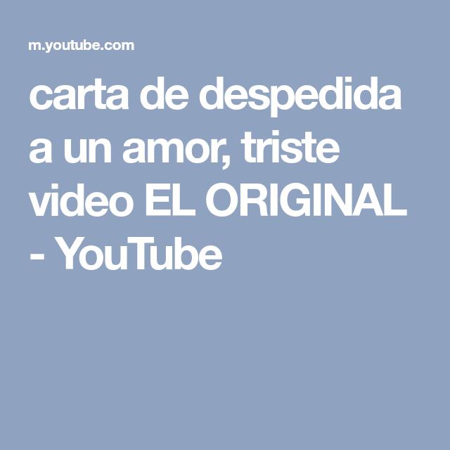 video de despedidas de amor