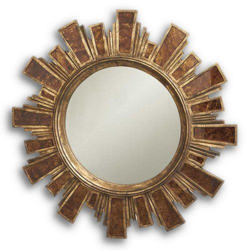 Find it at the Foundary - Antique Gold Sunburst Mirror