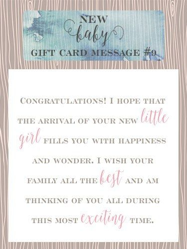 New Baby Gift Card Message 9 Congratulations I Hope That The