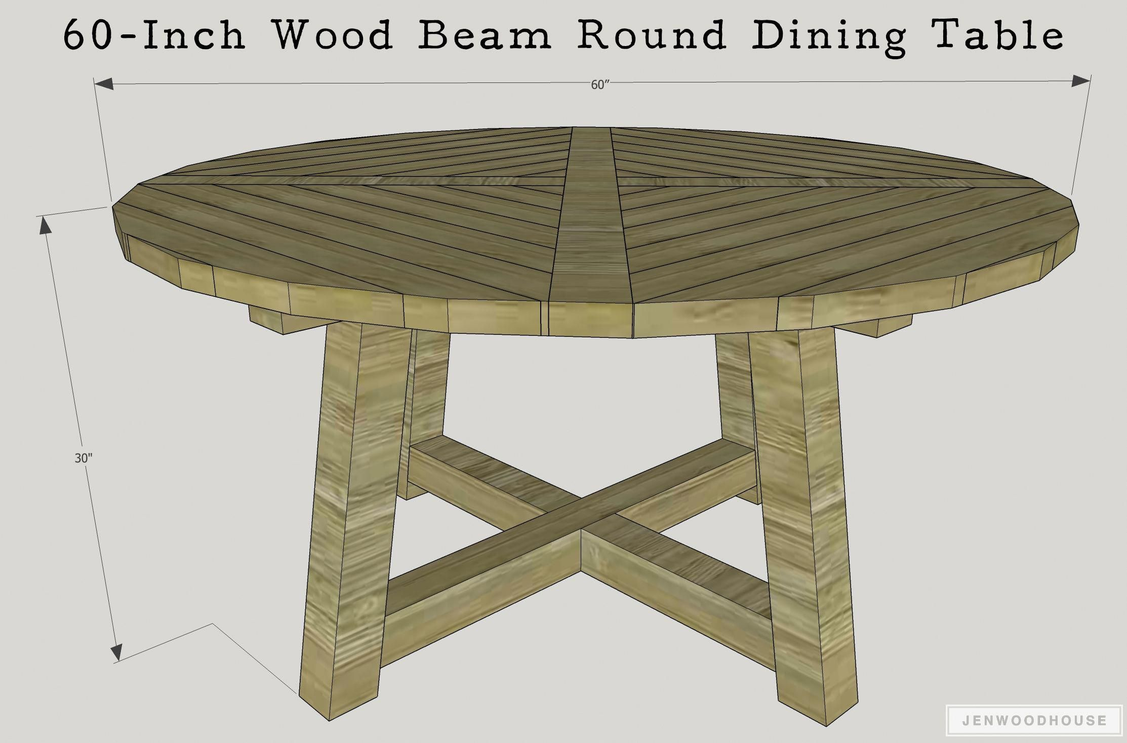 Learn How To Build A Diy Wood Beam Round Dining Table 48 Inch And