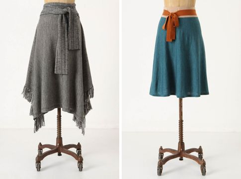 How To Make Upcycled Clothing   love love love these two sweater skirts from anthropologie