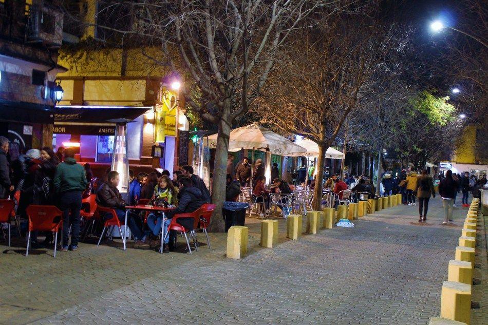 Spain. Sevilla at night.