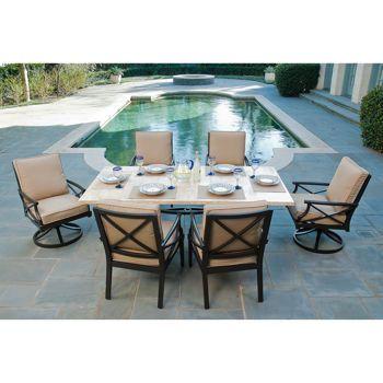 costco travers 7 patio dining set outdoor pinterest