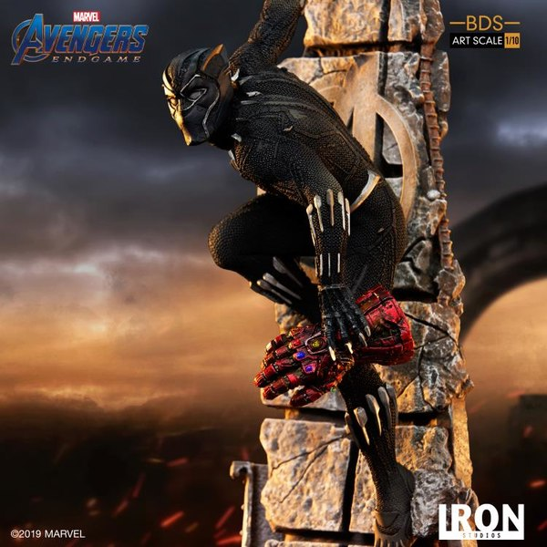Avengers Endgame Battle Diorama Series Black Panther 1 10 Statue From Iron Studio Black Panther Statue Black Panther Marvel Black Panther Art