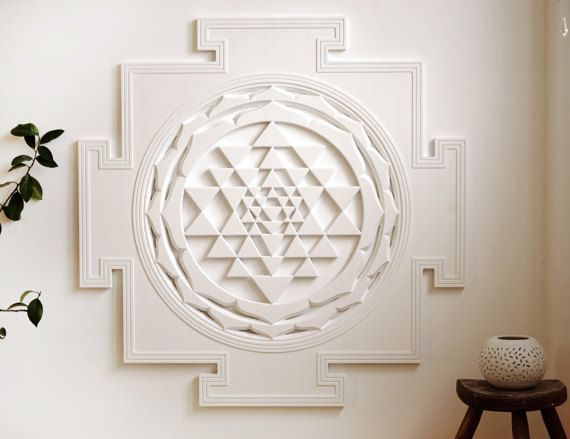 Spiritual Wall Art sri yantra - spiritual wall art for meditation (3x3ft) (shri