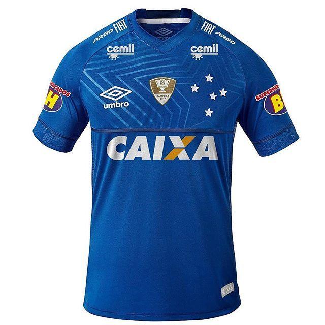 8993a15dde Essa será a camisa utilizada pelo Cruzeiro na Copa do Brasil para o jogo da   FinalCopaDoBrasil Destaque para o patrocínio do FIAT ARGO.  RumoAoHexa