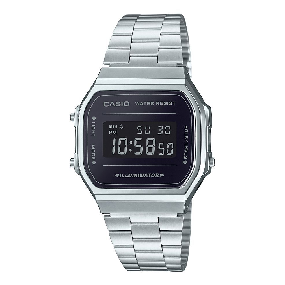 37ef7b04a43 Buy Casio Casual Watch For Unisex Digital Stainless Steel - A168WEM-1DF -  Watches