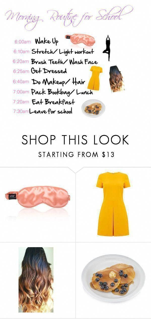 Morning Routine for School by purplebee3 on Polyvore featuring interior, interio... - #featuring #interio #Interior #Morning #Polyvore #purplebee3 #Routine #school #WhatsOralCare #WhatDoesOralCareMeanToYou