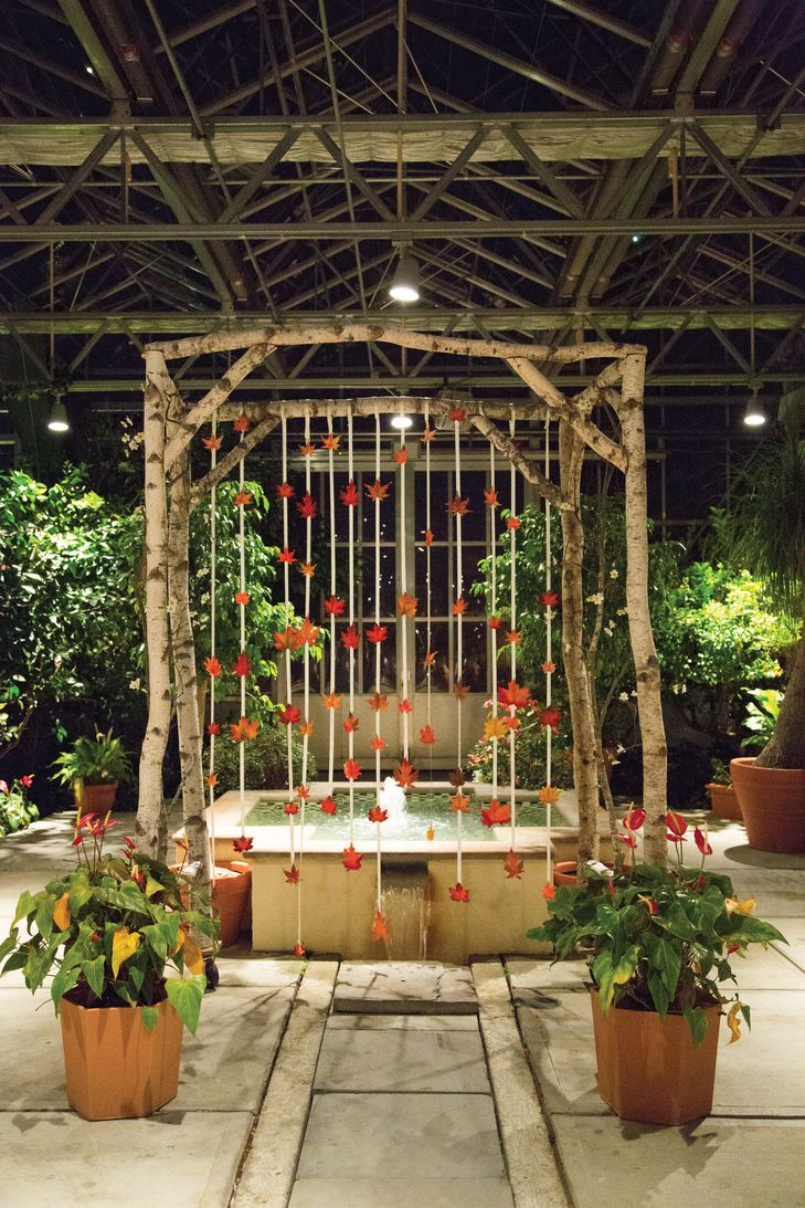 Birch and Leaf Ceremony Wedding Arch BKB & CO. https://www.theknot ...
