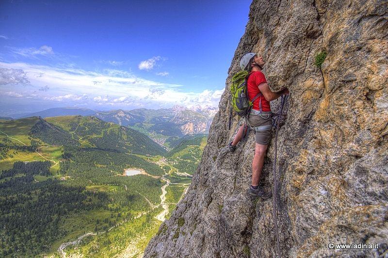 Klettersteig Wolkenstein : Via ferrata mesules selva wolkenstein