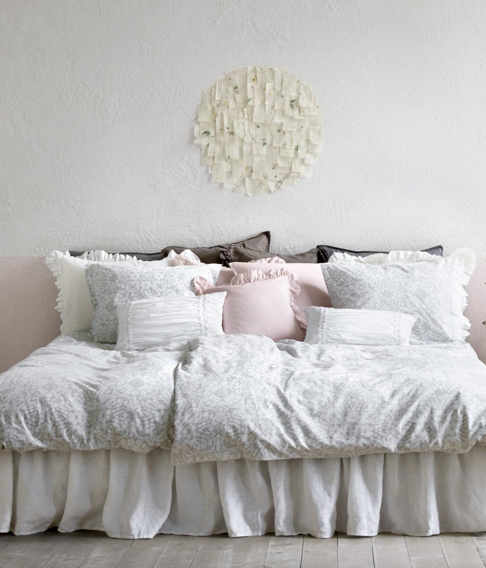 French Country Style Floral Lace Print Duvet