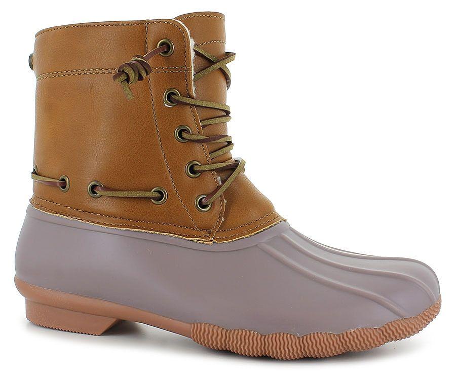 Duck Boot Features:\u003cbr/\u003efaux-leather