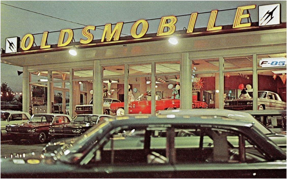 Concessionnaire Oldsmobile 1962 Vintage Automobile