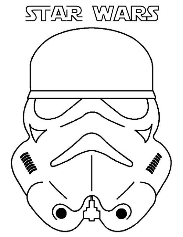 Print Picture Of The Clone Trooper Head In Star Wars Coloring Page ...