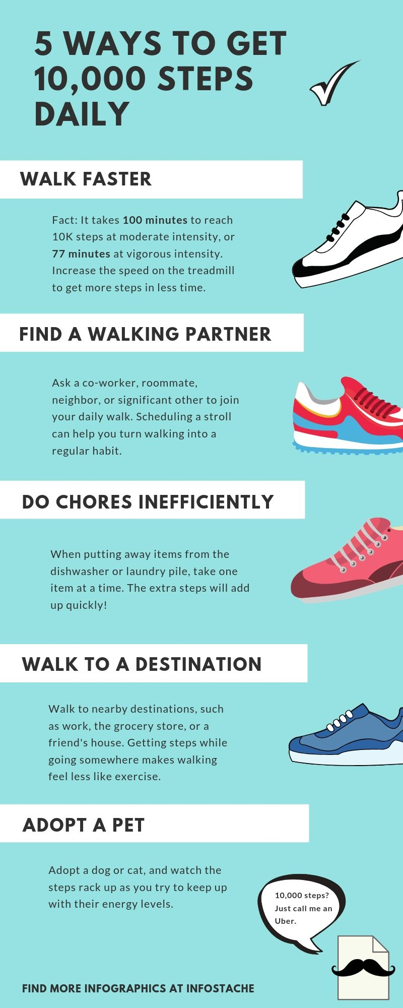 Steps to walk daily