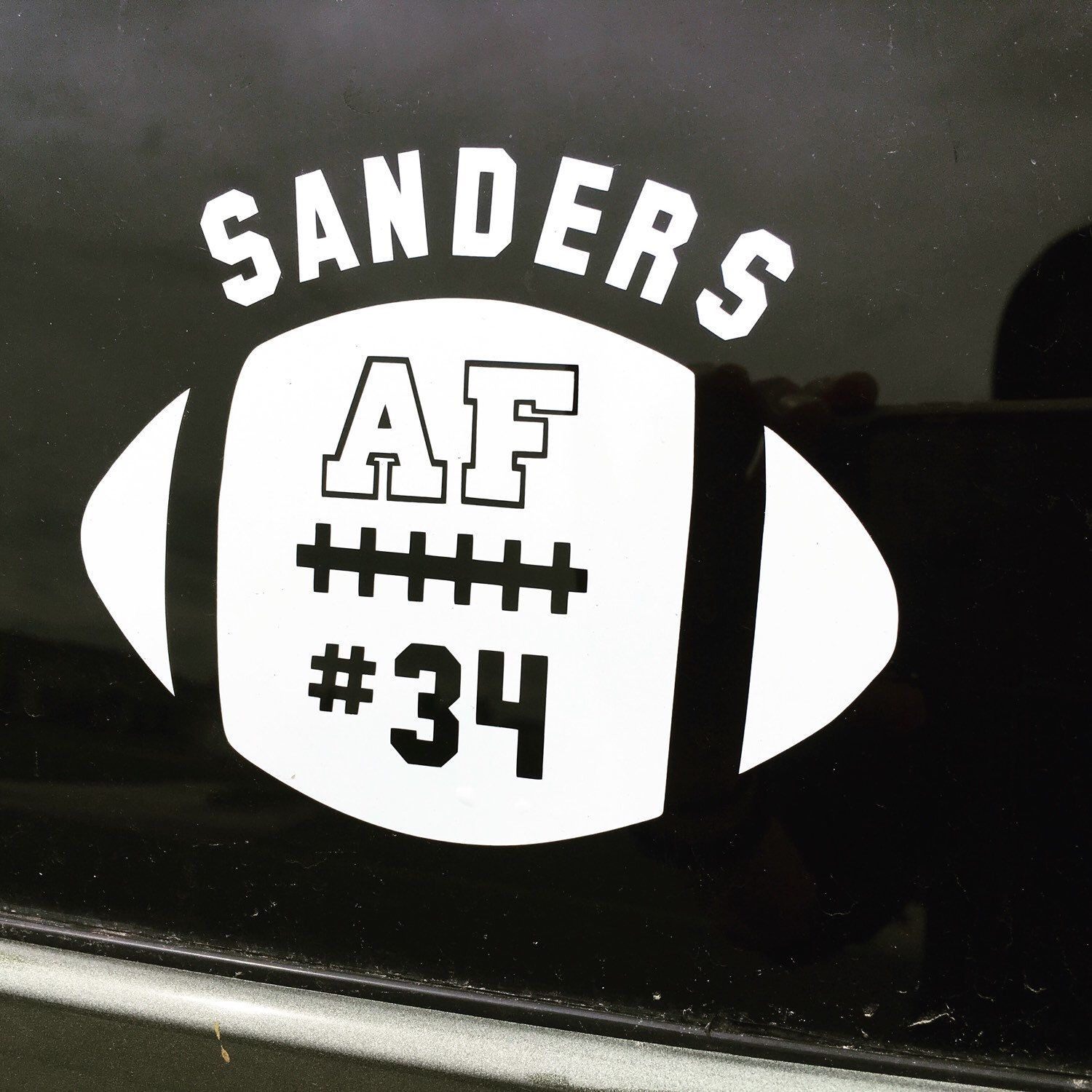 Need football vinyl car decal stickers to support your favorite team or player we have
