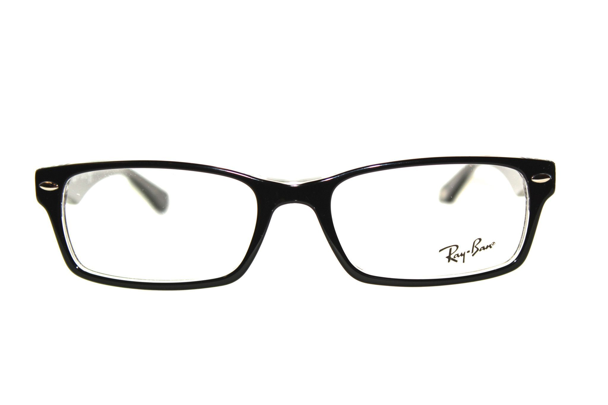 ddeea7348d5 Ray-Ban RX5206 2034 - Size  52-18-140 or 54-18-145 Color  Top Black on  Transparent - Style  Metallic Ray-Ban Logo on Temples - Acetate Frame -  Model  5206 ...