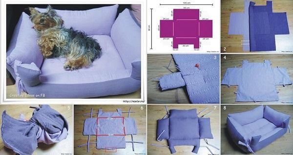How to make a bed for dogs.