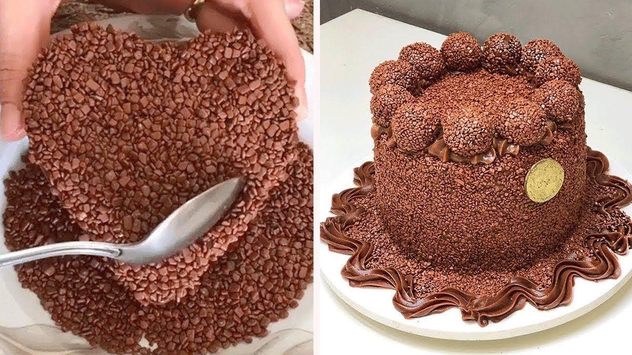 DIY Chocolate Cake Decorating Tutorial | Yummy Cake Recipe | Easy Cake Decorating Ideas #easychocolatecake