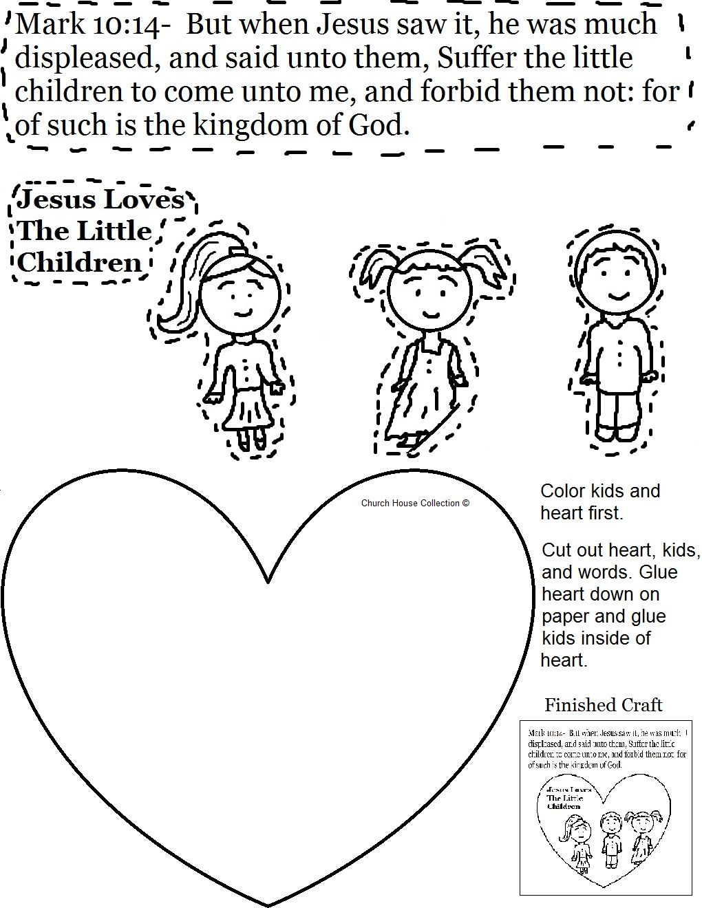 Jesus Loves The Little Children Activity Page Jpg 1 020 1 320