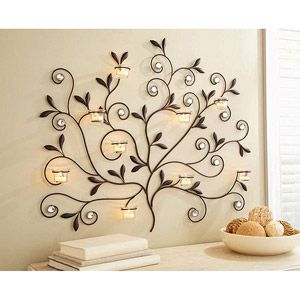 Better Homes And Gardens Tree Votive Sconce Oil Rubbed Bronze 19 87 Better Homes Gardens Metal Tree Wall Art Home Garden