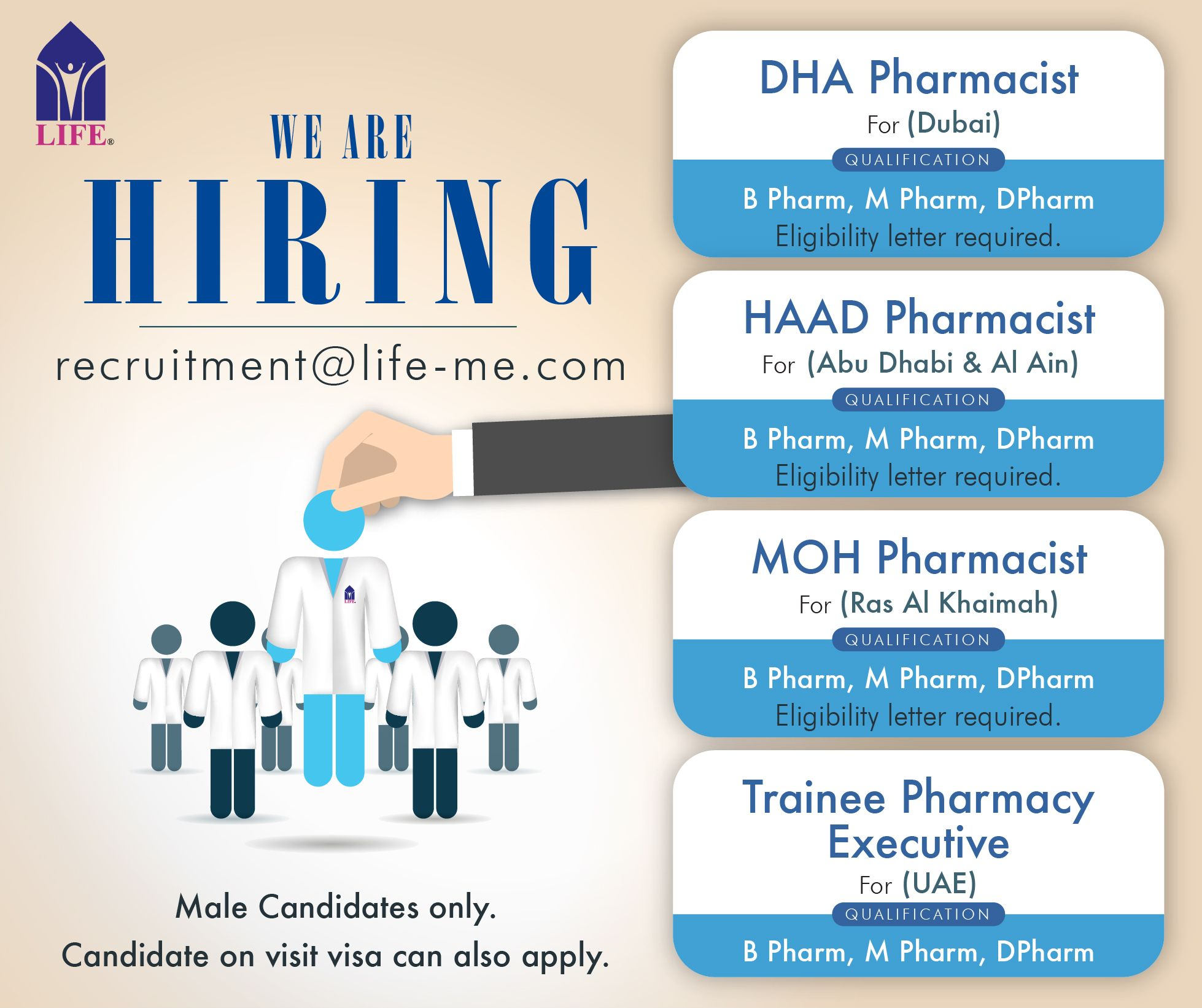 pharmacist with moh dha haad and trainee pharmacy executive - Pharmacist Trainee