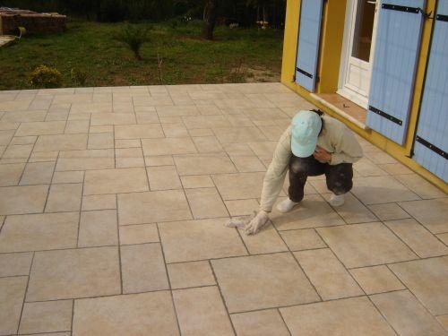 Construction De La Terrasse Page 2 Poser Du Carrelage Carrelage Dalle Beton Terrasse