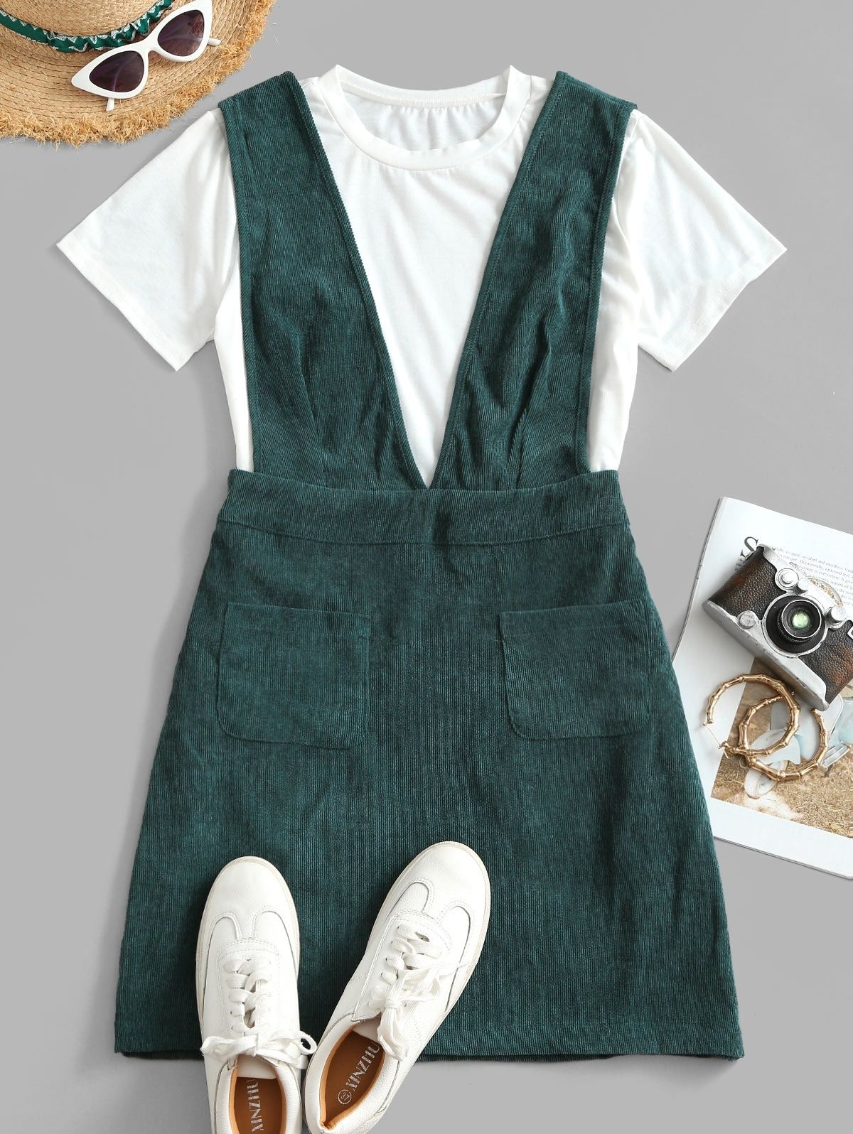 Pin By Victoria Fisher On Fashion 2020 Corduroy Overall Dress Overall Dress Overalls Fashion [ 1596 x 1200 Pixel ]