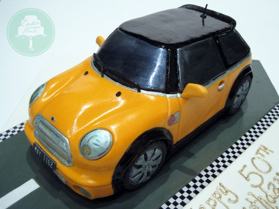 Mini Cooper Cake by Sliceofcakedeviantartcom on DeviantArt
