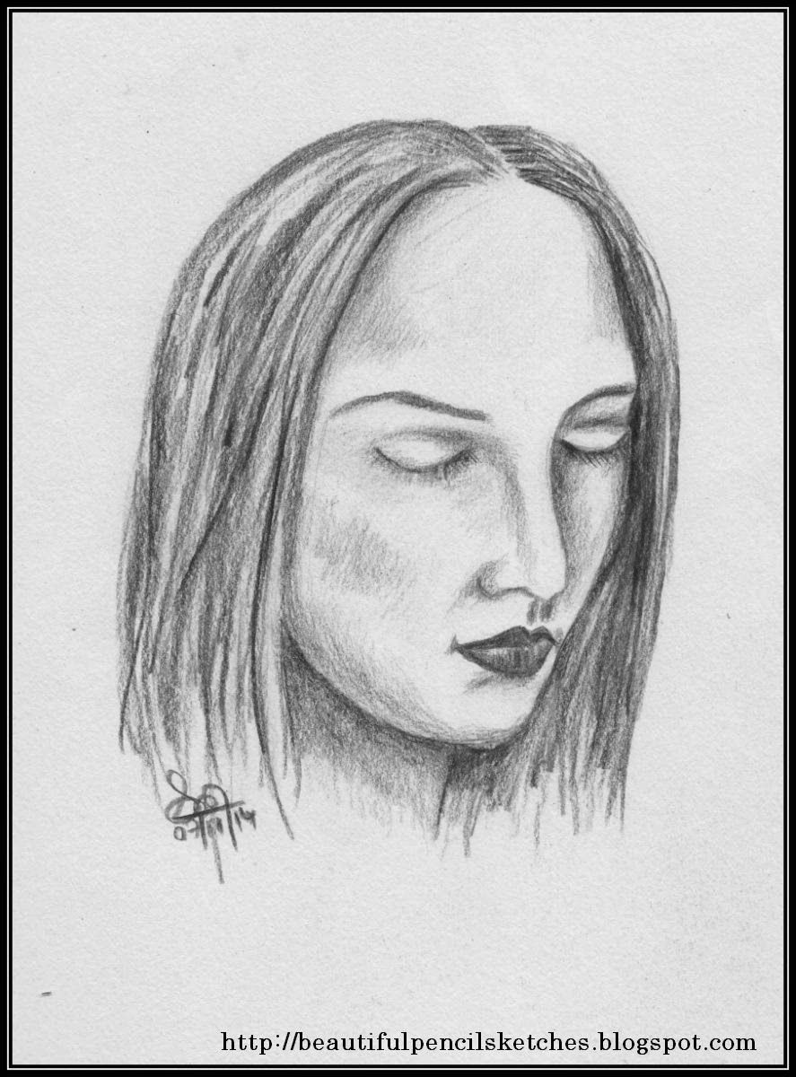 Beautiful pencil sketches 3 simple pencil sketches of girls faces 150415