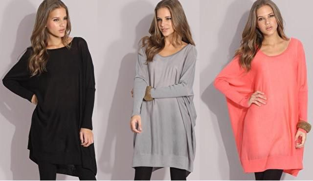 oversized sweaters/wearable blankets in black, gray, & coral