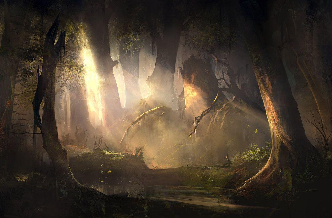 Mysterious Forest Sunset by SergeyZabelin.deviantart.com on @DeviantArt