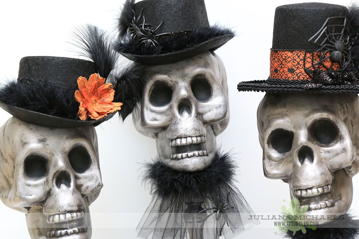 Dollar Tree Halloween Skull Decor Dollar tree halloween