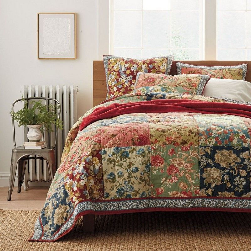 Fieldstone Patchwork Quilt The Company Store Quilted Bedspreads Bed Spreads Quilt Bedding