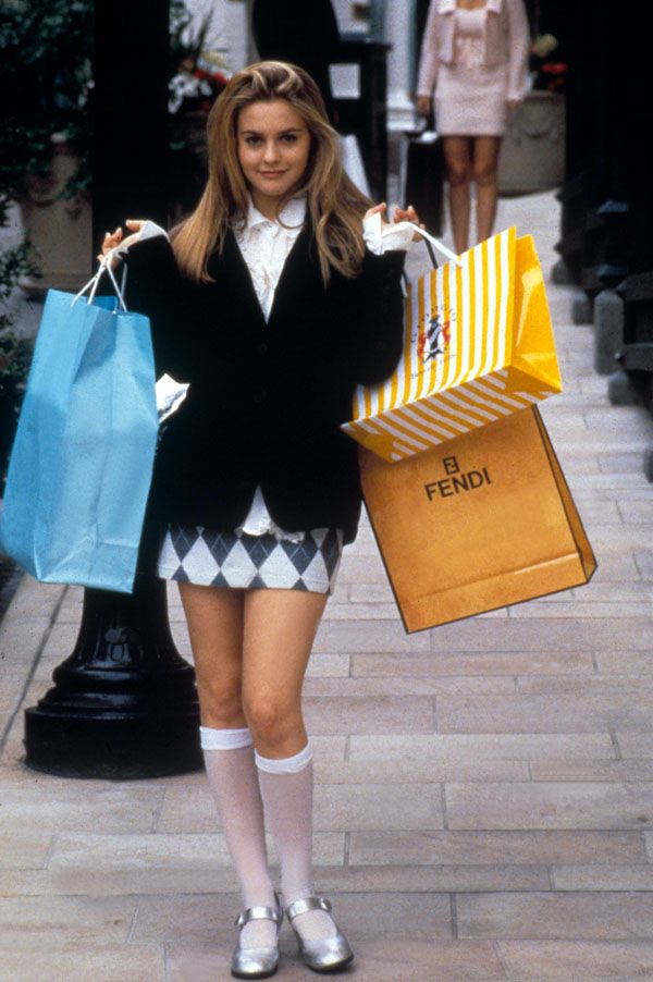 CLUELESS  With their Alaia mini-dresses, matchy-matchy suits, knee-length socks and walk-in wardrobes, who didn't want to dress like Cher and Dionne during the 90s?    FACT: There are 53 different kinds of plaid used in Clueless, seven of which are worn by Cher, and twelve by other major characters.