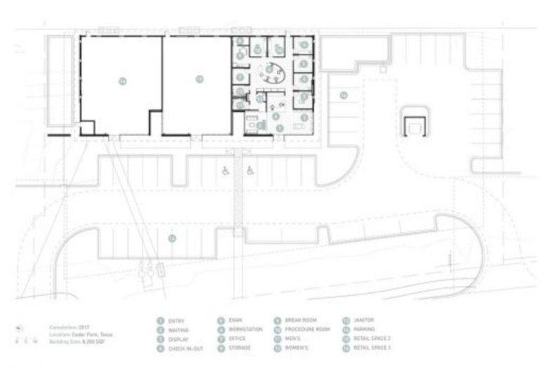 Cedar Park Westlake Dermatology A Contemporary Commercial Building In Texas West Lake Cedar Park Architecture Plan