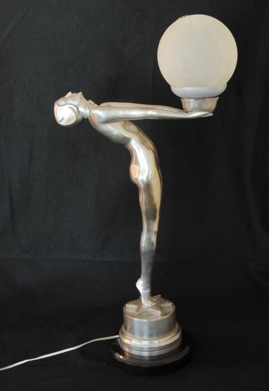 Bronze Art Deco Figurine Biba Lamp Statue Another Female Figurine In The  Clarte Form   To Me This Is The Art Deco Bronze Female Statue Par Excellence