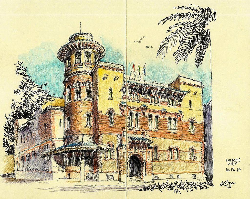 M laga former post office padron dibujos de for Oficina padron malaga