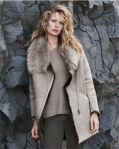 3052a0800a4 Poetry - Toscana shearling sheepskin coat - Wearing this Toscana shearling  coat turns any event into an occasion. Fashionable mid-length with long  sleeves ...