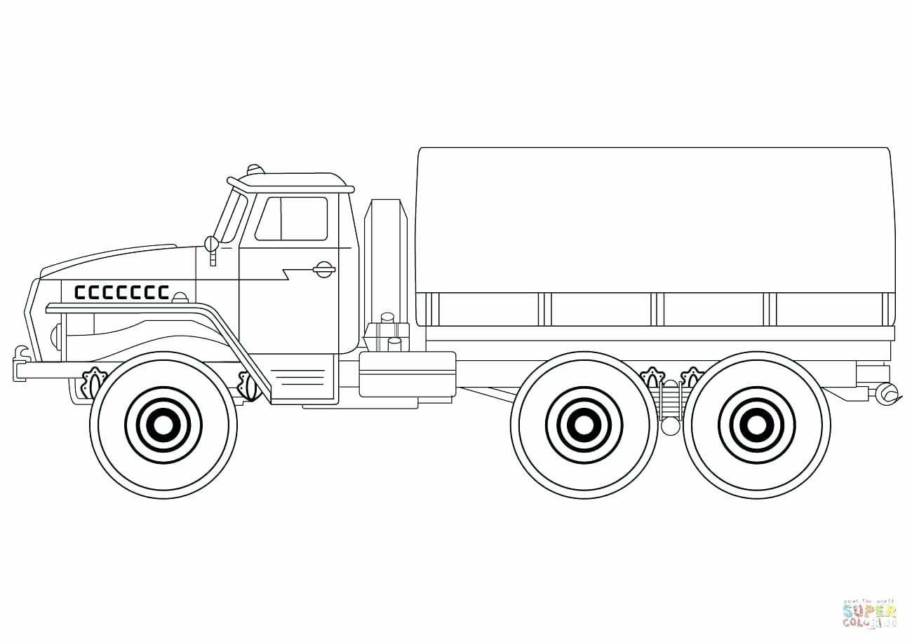 Free Coloring Pages Military Vehicles In