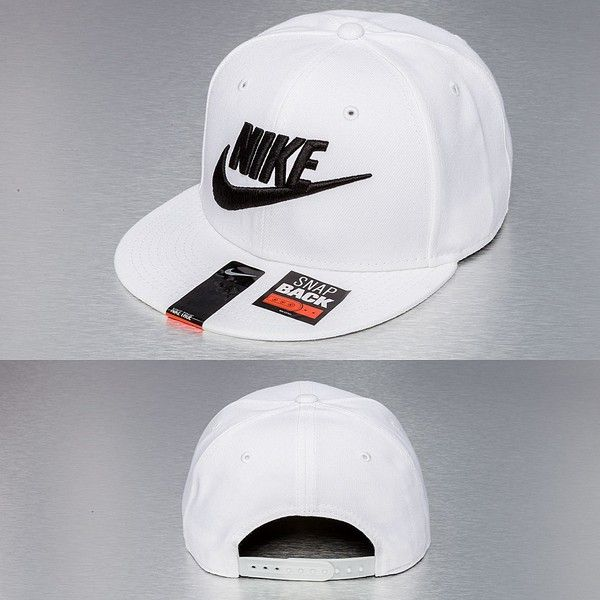 08db5e7647597 Nike Cap Snapback Cap True Graphic Futura in weiß (225 NOK) ❤ liked on  Polyvore featuring accessories