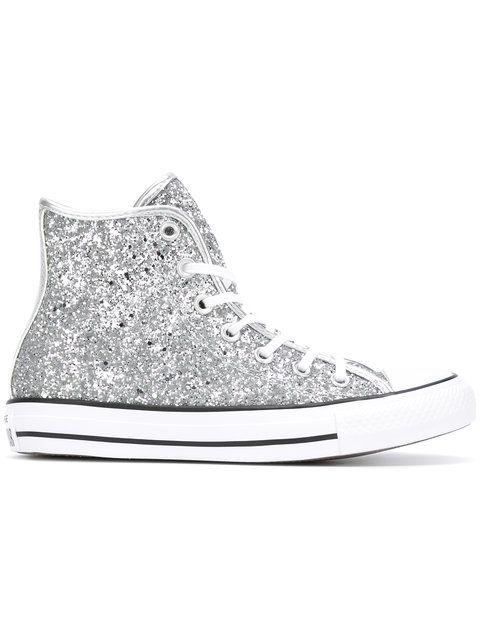 CONVERSE All Star Glitter Hi-Tops. #converse #shoes #hi-tops